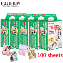 100 sheets Fuji Fujifilm instax mini 8 9 films white Edge films for instant mini 8 7s 25 50s 9 90 Camera photo Paper Free gift(China)