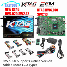 Super ECU Programming NEW KTAG 7.020 SW2.23 Online Version Added More 140 ECU Types OR K TAG 6.070 SW2.13 No Tokens Limited