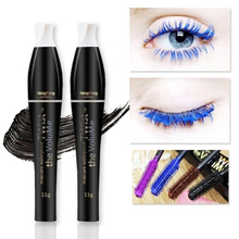 HOT Rushed Colorful Mascara Color Volume Lengthening Curling Cosplay Eyelashes Makeup Colossal 3d Fiber Waterproof Cosmetic