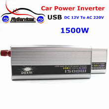 Car Invertor Converter Modified Sine wave Car Power Inverter 1500W DC 12V to AC 220V Car Battery Charger Universal With USB(China)