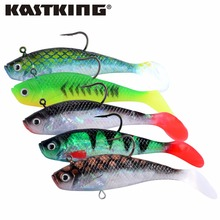 KastKing Brand 98mm 3pcs/lot Soft Lead Fish Fishing Lures 19.08g Freshwater & Saltwater Fishing Tackle Soft Bait Bass Hook(China)
