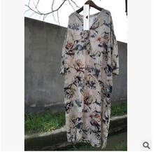 In the autumn of 2016 new products to market, brand quality original design cotton linen frocks of loose big yards