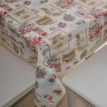 Fashion DIY Cotton Fabric, Fabric, Fluid cloth curtain fabric home sofa table cloth fabric rose 150*50cm for Table Home Party(China)