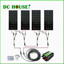 600Watts COMPLETE KIT 600W Photovoltaic Solar Panel 24V System RV Boat 4*150W Solar Panel System Solar Generators