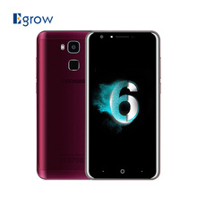 Original Doogee Y6 Agate Red MTK6750 Octa Core Android 6.0 Mobile Phone 5.5 Inch Cell Phones 2G RAM 16G ROM 4G Unlock Smartphone
