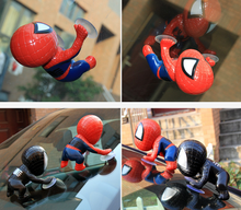 12cm Super Cute Mini Spider Man Toy Climbing Spiderman Window Sucker for Spider-Man Doll Car Home Interior Decoration 160(China)