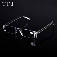 Classic Designer Unisex High Quality Rimless Reading Glasses Anti Fatigue Super Light Alloy Presbyopic Eyeglasses Women Men(China)
