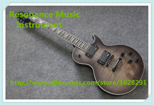 China Custom Shop Transparant Grey Finish LP Electric Guitars With Mahogany Solid Body For Sale