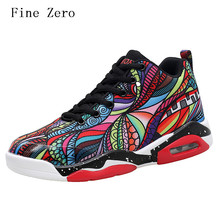 Fine Zero Men trainers Red Grey authentic basketball shoes classic shoes retro comfortable men&women shoes zapatillas hombre(China)
