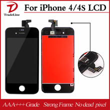 100% Test LCD For iPhone 4s Screen Replacement For Display iPhone 4s LCD Original Digitizer Assembly 20PCS/LOT