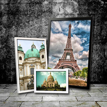 Hot Sale Classical Building Modern living room Fram Picture Photo  paintings fashion inserted paintings Wood frame Wall Decor