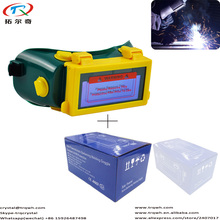Welding Goggle Auto Darkening CE Approved New Arrivel Eyes Products One Year Warranty with Color Box Big View 90*32mm TRQ-E05-07(China)