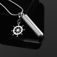 NEW ARRIVE  Blank Openable Tube Perfume Lockets Stainless Steel Cremation Ashes Pendant Necklace   Keepsake Urns  With Compas