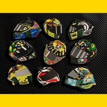 Free shipping 46# Rossi Helmet Valentino the doctors KBS ATV Key ring/chains MOTO GP Motorcycle Motocross Helmet Design
