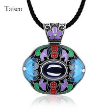 ethnic jewelry for lady 2016 Latest Style Necklace for women vintage women necklace corundum created gemstone pendant necklace