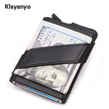 Buy Klsyanyo Aluminum Card Holder Anti Rfid Blocking Money ID Card Business Credit Card Case Slim Wallets Band Men Women for $10.39 in AliExpress store