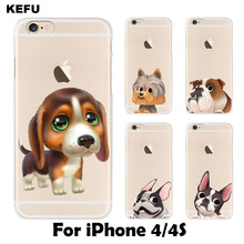 For coque iPhone 4S case Cute dog hard PC cover for iPhone 4 casnew arrivals original for fundas iPhone 4S case(China)