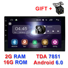 "2G+16G Auto Radio 2 Din Android 6.0 Car Radio dvd  player Universal Quad Core 7""gps navigation video wifi BT stereos Full touch"