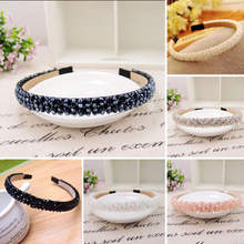 Luxury Women Girls Handmade Headband Flower Crystal Diamante Beads Hairband Alice Hair Band Hair Clasp Hair Styling Accessory