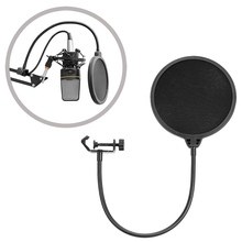 Professional Microphone Pop Filter Mic Wind Screen Mask Shield For Podcast Recording Studio Microfone Dual Mesh Windscreen Cover
