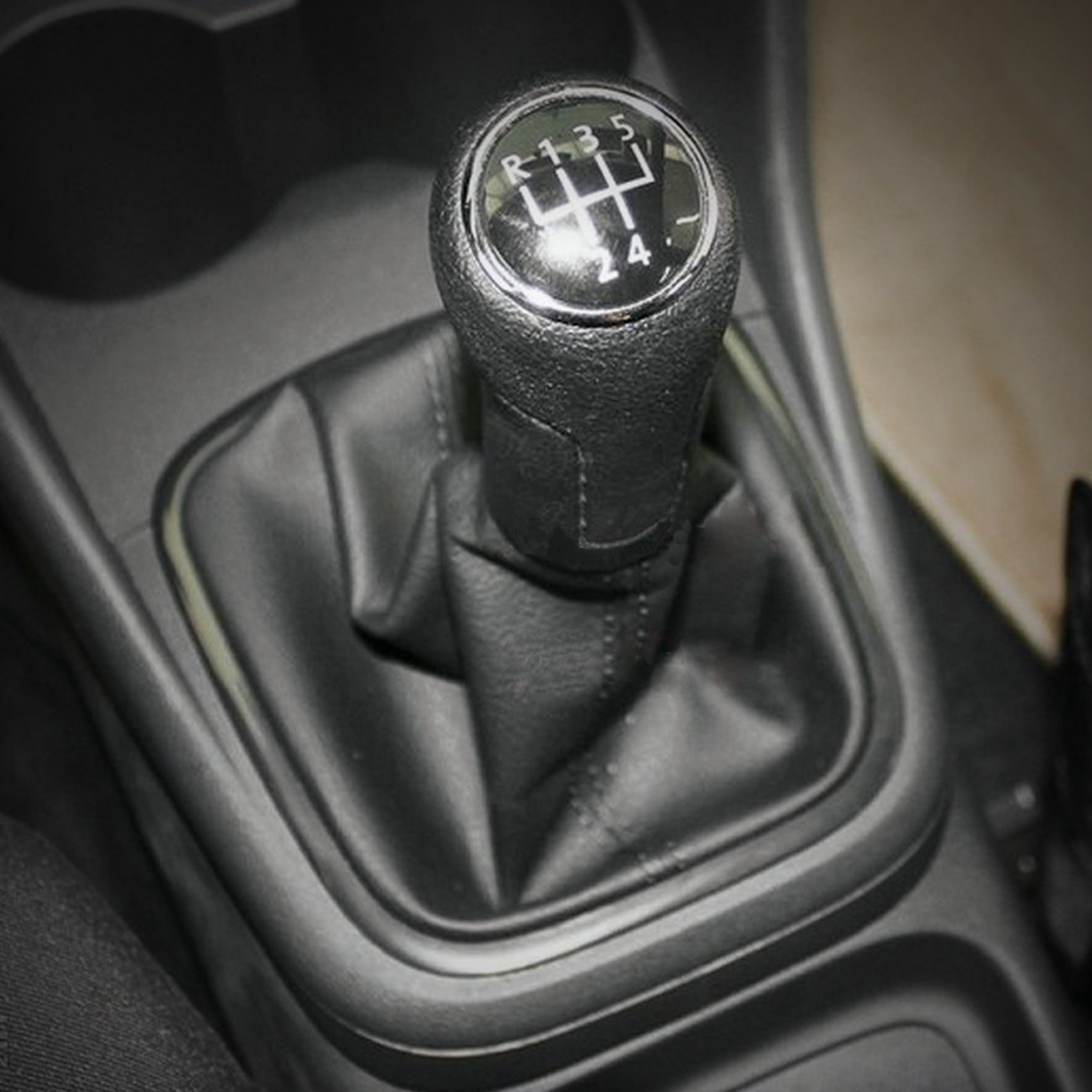 Gear Stick Gaiter For Volkswagen Polo 9N 9N2 2002-2009 Grey Leather