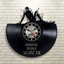 American Horror Story Vinyl Wall Clock Art Gift Room Modern Home Record Vintage Decoration