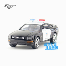 Free Shipping/KiNSMART Toy/Diecast Model/1:38 Scale/2006 Ford Mustang GT Police/Pull Back Car/Educational Collection/Gift/Kid(China)