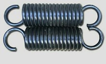Cheap coil steel metal extension spring with hooks supplier, 2x 15 x 60mm