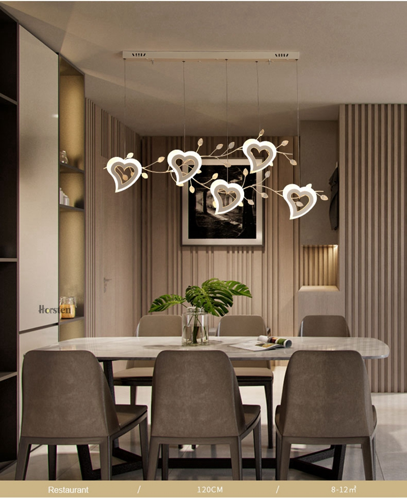 Romantic Love Heart LED Pendant Lights (8)