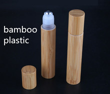 3ps parts FREE + 10 ml, 12 ps, bamboo, Plastic, Stainless Roll On Ball, Perfume Aromatherapy Bottle