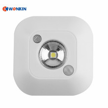 LED Mini Wireless Infrared Motion Sensor Night Light Wall Emergency Wardrobe Cabinet Night Lamp atmosphere light(China)