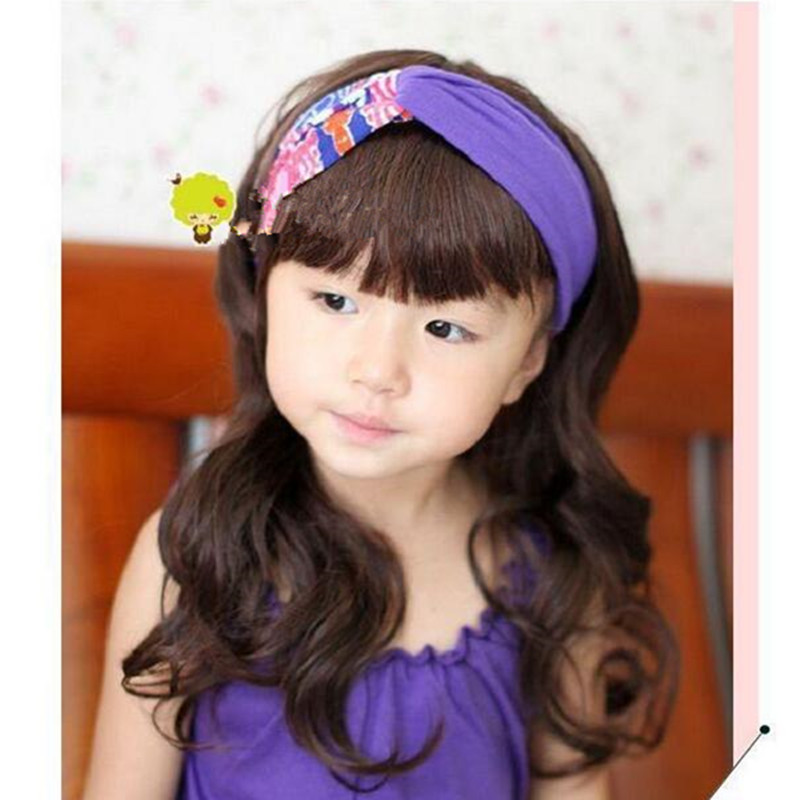 Children Long Full Lace Wigs Natural Wavy Cute Synthetic Hairpieces for Props Black/dark Brown Girl Hair Style with Full Bang<br><br>Aliexpress