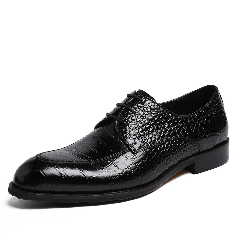 British style Embossed Leather Men Flats Pointed toe Business shoes Male Wedding shoes Autumn Cow Split leather Oxfords shoes<br><br>Aliexpress