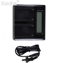 LP-E6 Digital Dual Battery Charger LCD For Canon 70D 60D 6D 5Ds 7D 5D Mark II III(China)