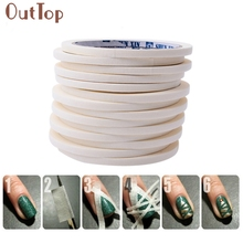 GRACEFUL  17m*0.5cm French Style Manicure Nail Art Tips Creative Nail Stickers Tape Decor FREE SHIPPINGUAG16