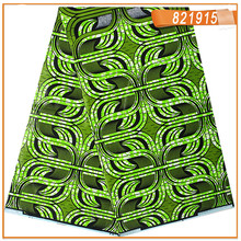 6Yards Green! Top Selling African Wax Fabric 100% Cotton Super Wax Fabric Nigerian Wax  Super Wax Hollandais ! JLB100-34