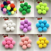 20g(20pcs) 30mm Multi Color Pompom Fur Craft DIY Soft Pom Poms For Children Toys Cellphone Wedding Home Decoration Accessories(China)