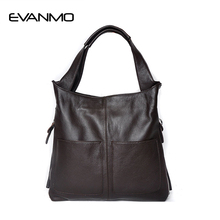 Buy Vintage Brand New Genuine Leather Bag Ladies Cowhide Large Capacity Tote Bag Sac Main Famous Design Lady Black Crossbody Bags for $55.79 in AliExpress store