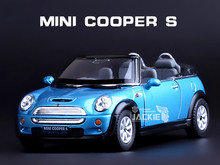 KiNSMART Mini Cooper S 1:28 Alloy Diecast Model Toy Car High Simulation Exquisite Diecasts&Toy Vehicles Car For Baby Gifts
