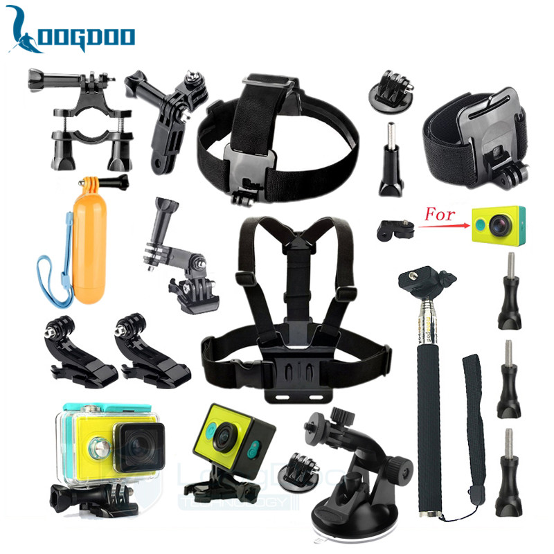 Xiaomi Yi Accessories Set Wateraproof Case Protective Border Frame Chest Belt Head Strap Mount Monopod For Xiao yi Camera GS47<br><br>Aliexpress