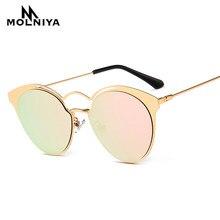 MOLNIYA 2018 Nouvelles lunettes de Soleil Rondes Femmes Vintage Marque  Designer Grande Créativité Soleil Lunettes Hommes Lunette. d443367662b7