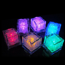 6pc/lot Creative Colorful Fluorescent Light-emitting Simulation Ice Cubes Festival Wedding Festive Party Bar KTV Universal(China)
