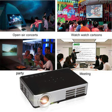 Poner Saund mini HD 3D Projector WiFi Android 4.4 DLP 1080P Digital home theather tv Active Shutter proyector for PC laptop TV