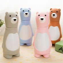 Hot 220ml Cartoon water bottle Bear coffee copo  garrafa termica thermo  water bottle school travel bardak caneca termica