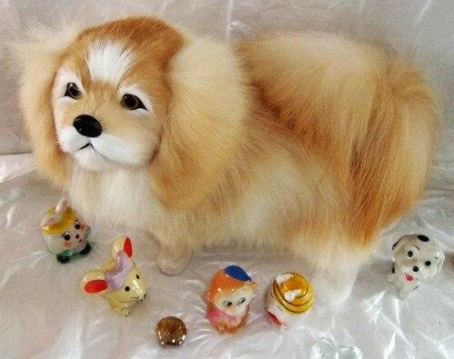 new creative Simulation Pekingese dog toy plush Pekingese dog doll gift about 32x25cm<br><br>Aliexpress
