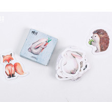 New 1 lot = 1 pack = 45 pcs forest animals mini paper seal sticker Decoration label(China)