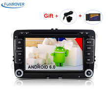 New 2 Din 7 inch Quad core Android 6.0 vw Car Radio for Polo Jetta Tiguan passat b6 cc fabia mirror link wifi Radio CD indash(China)