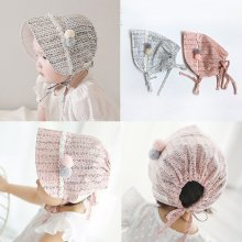 Infant Soft Visor Sun Hats Princess Lace Caps Baby Girls Bonnet Newborn Photography Props