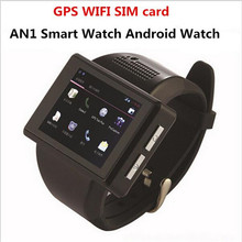 AN1 Smart Watch Cell Phone Android 4.1 RAM 512MB+ROM 4GB 2.0 Inch Touch Screen Watch Mobile Phone 2.0 MP WiFi FM GPS