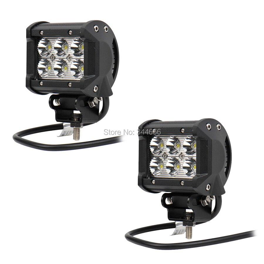 2PCS 18W Car Styling Led Fog Lights 1260LM Spot Led Off Road Driving Lights Lighting DRL Waterproof Work LED Lamp for Jeep SUV<br>